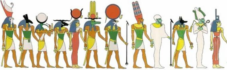 voorstelling goden - egyptische godsdienst
